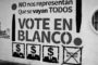 A protestar: ¡vote en blanco!