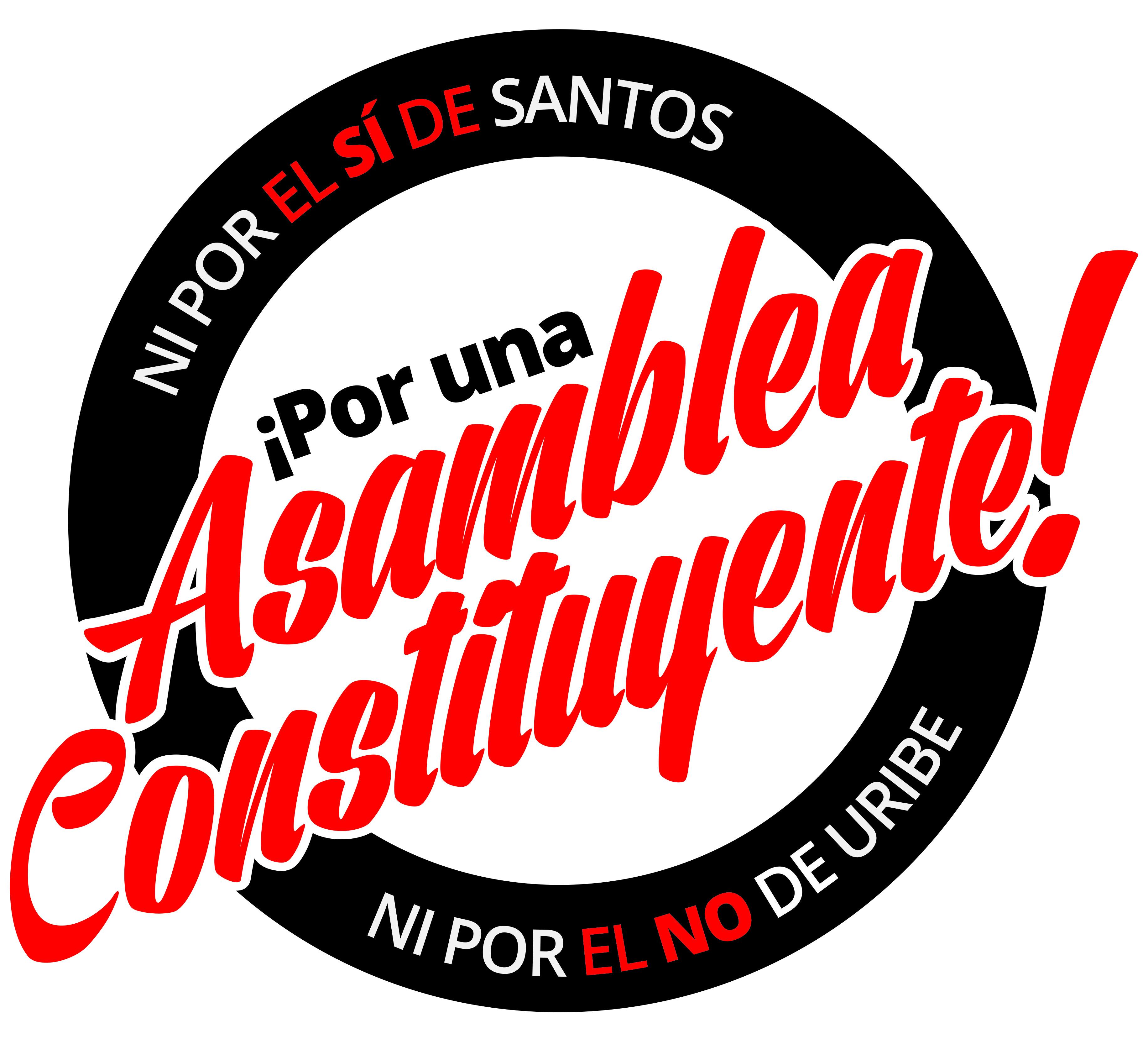 Ni El Si De Santos No Uribe Por La Constituyente Con Jaket Naruto Shippuden Dewasa Logo Derechos Pst Colombia