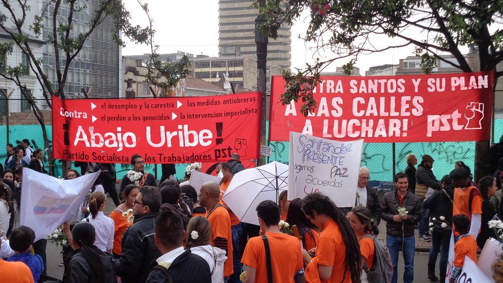 Contra El Pacto De Santos Uribe Movilizacion Y Constituyente Pst