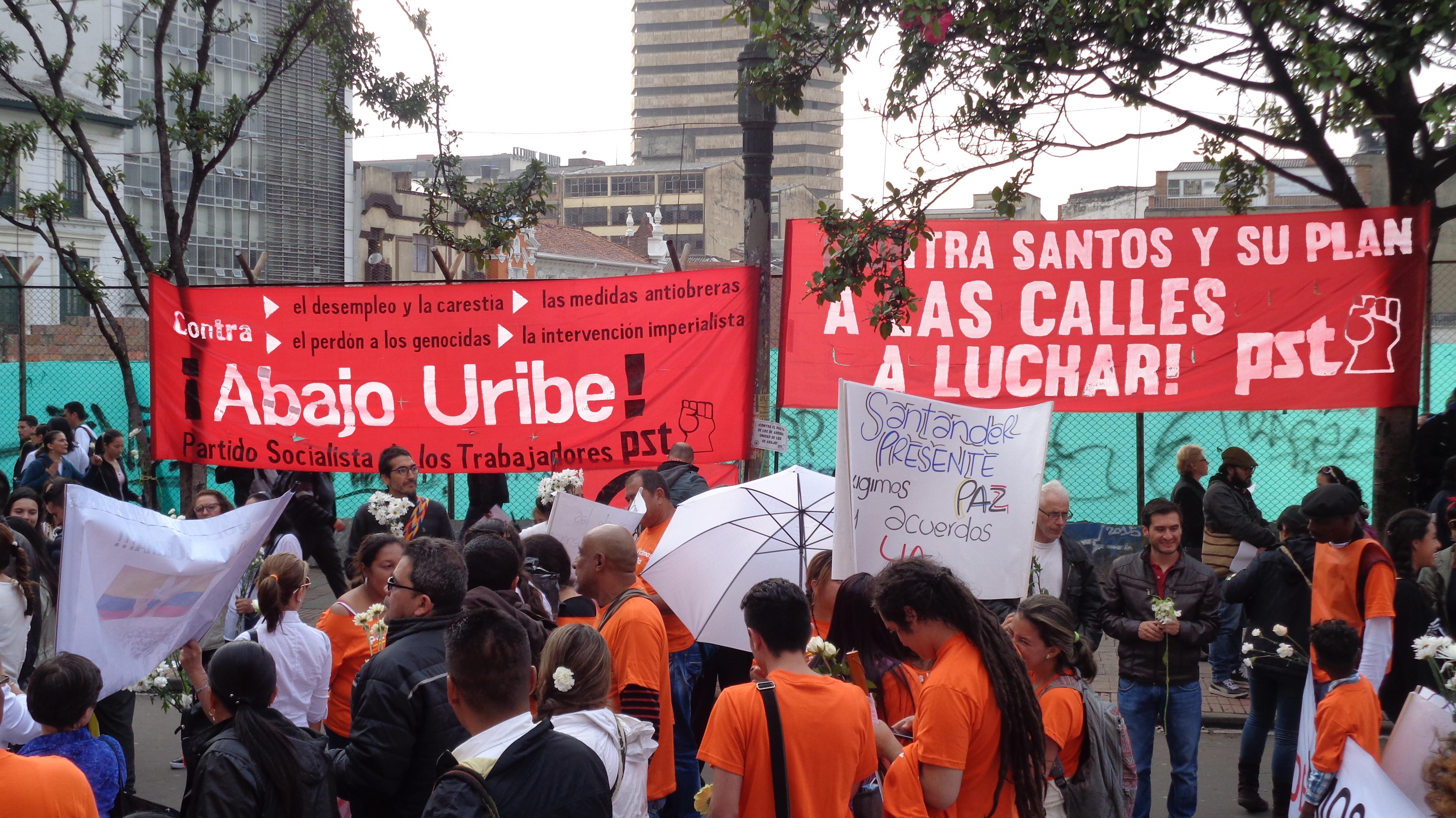 Contra el pacto de Santos Uribe Movilizaci³n y Constituyente – PST Colombia